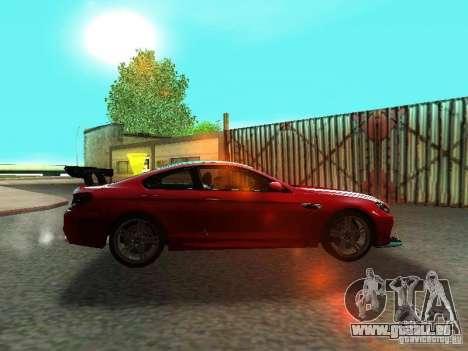 BMW M6 2013 pour GTA San Andreas vue intérieure