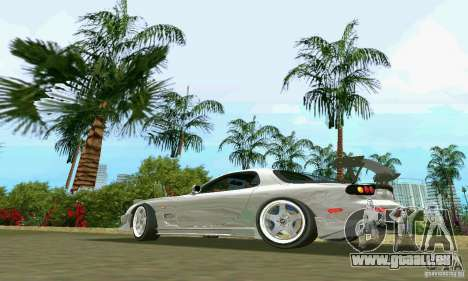 Mazda RX7 tuning pour une vue GTA Vice City de la gauche