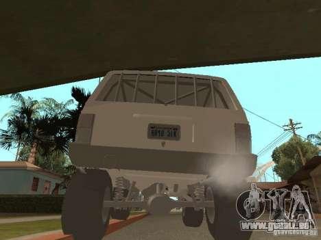 Jeep Cherokee 1984 v.2 pour GTA San Andreas vue de droite