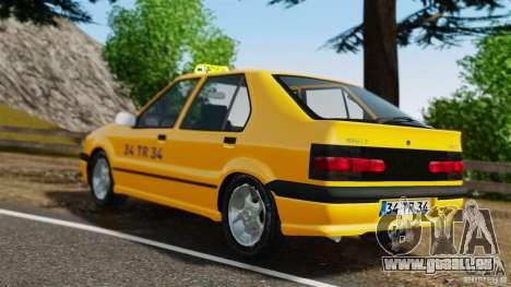 Taxi Renault 19 pour GTA 4 Vue arrière de la gauche