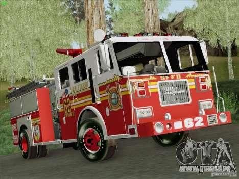 Seagrave Marauder II Engine 62 SFFD pour GTA San Andreas vue arrière