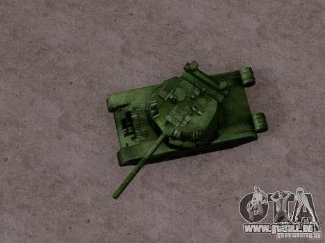 T-80 pour GTA San Andreas sur la vue arrière gauche