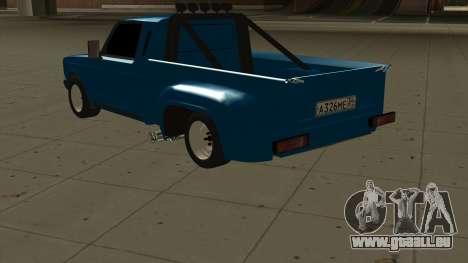 VAZ 2107 Ford pour GTA San Andreas sur la vue arrière gauche