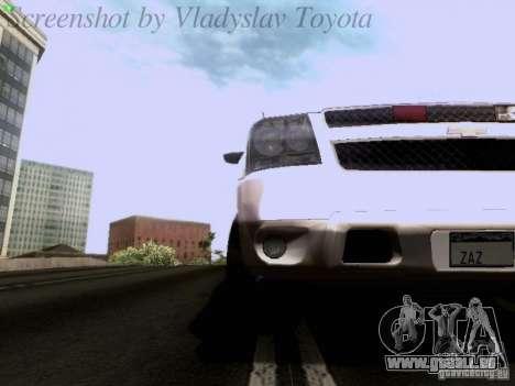 Chevrolet Avalanche 2007 pour GTA San Andreas vue intérieure