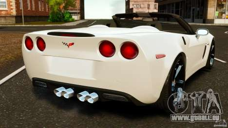 Chevrolet Corvette C6 2010 Convertible pour GTA 4 Vue arrière de la gauche