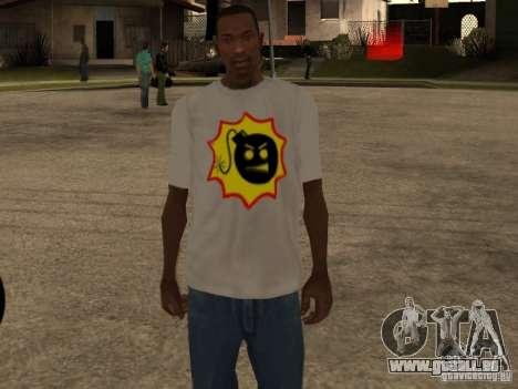 Nouveau t-shirt pour GTA San Andreas troisième écran