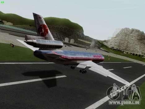 McDonell Douglas DC-10-30 Hawaiian für GTA San Andreas zurück linke Ansicht