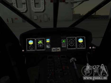 MH-X Stealthhawk für GTA San Andreas Rückansicht