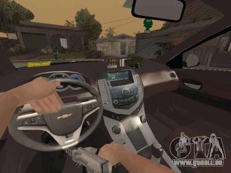 Chevrolet Cruze Carabineros Police für GTA San Andreas Seitenansicht