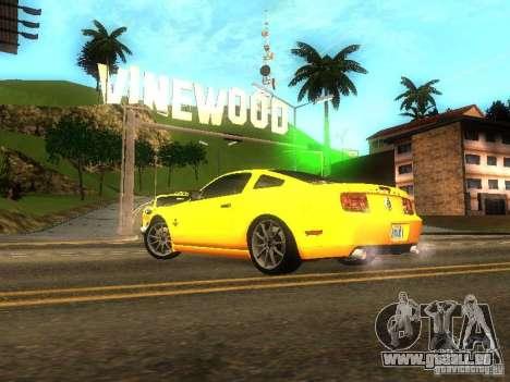 Ford Shelby GT 2008 pour GTA San Andreas laissé vue