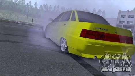 Sable jaune 2110 de VAZ pour GTA San Andreas laissé vue