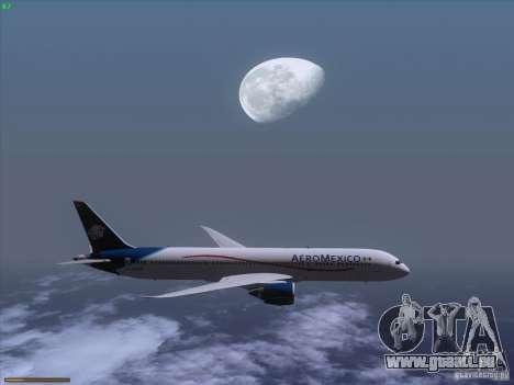 Boeing 787-8 Dreamliner AeroMexico pour GTA San Andreas vue intérieure