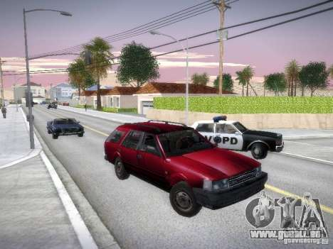 Nissan Bluebird Wagon für GTA San Andreas Rückansicht