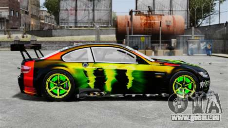 BMW M3 (E90) 2008 Monster Energy v1.2 pour GTA 4 est une gauche
