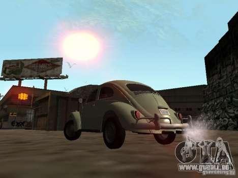 Volkswagen Beetle pour GTA San Andreas vue intérieure