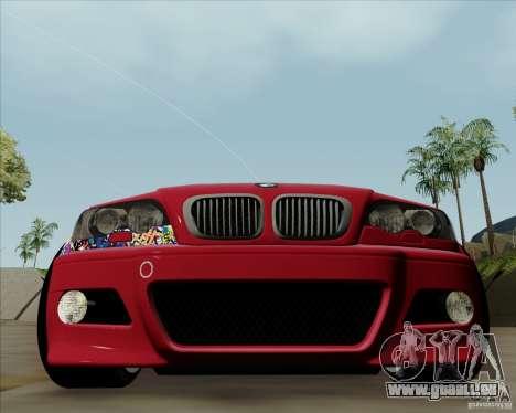 BMW E46 pour GTA San Andreas laissé vue