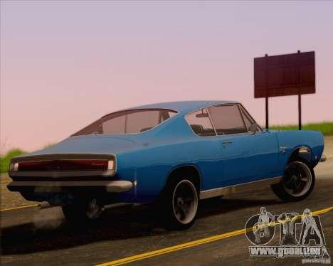 Plymouth Barracuda 1968 pour GTA San Andreas laissé vue