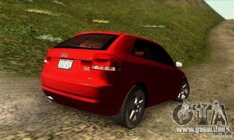 Audi A3 Tunable pour GTA San Andreas laissé vue