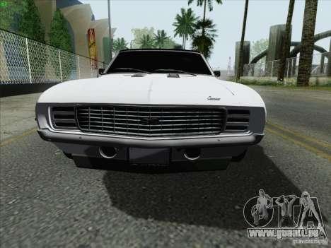 Chevrolet Camaro SS 1969 pour GTA San Andreas laissé vue