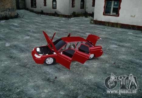 VAZ 2110 pour GTA 4 vue de dessus