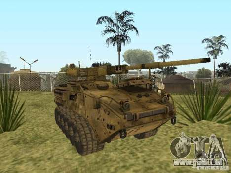 BMTV M1128 MGS für GTA San Andreas Rückansicht