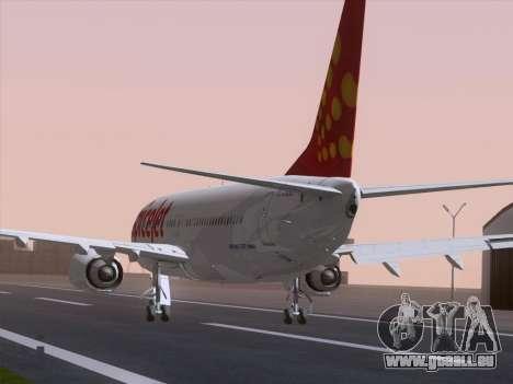 Boeing 737-8F2 Spicejet für GTA San Andreas linke Ansicht