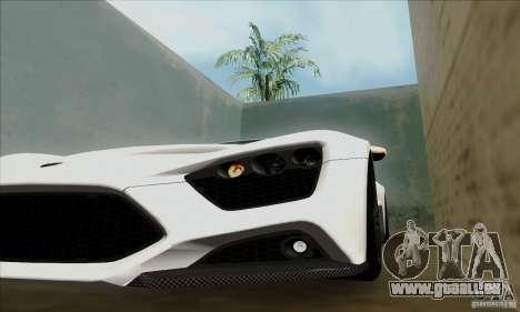 Zenvo ST1 2010 pour GTA San Andreas sur la vue arrière gauche