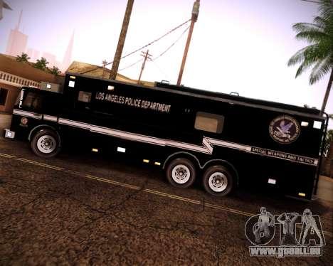Pierce Contendor LAPD SWAT pour GTA San Andreas vue de droite