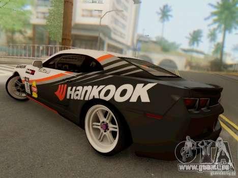 Chevrolet Camaro Hankook Tire pour GTA San Andreas sur la vue arrière gauche