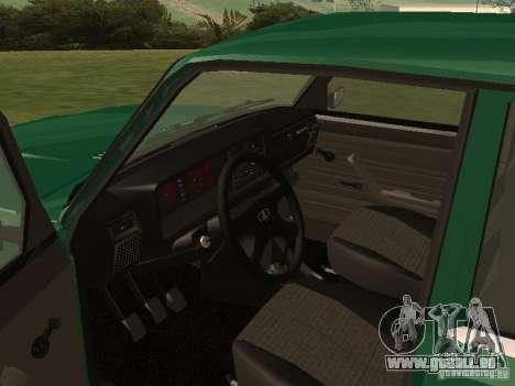 VAZ 2107 1988 pour GTA San Andreas vue de droite