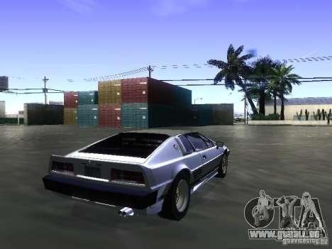 Lotus Esprit Turbo pour GTA San Andreas laissé vue