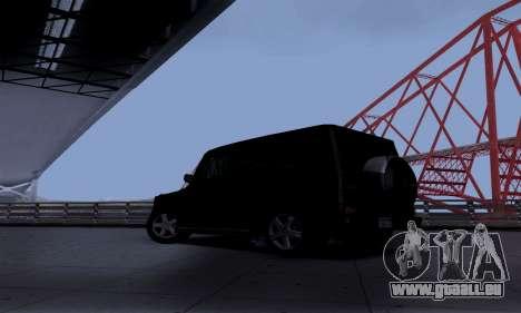 Mercedes-Benz G500 für GTA San Andreas zurück linke Ansicht