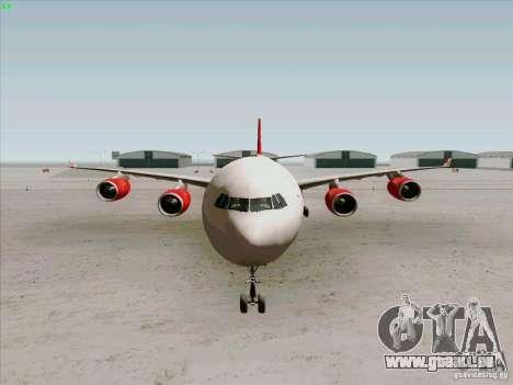 Airbus A-340-600 Virgin für GTA San Andreas Innenansicht