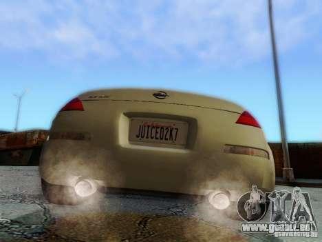 Nissan 350Z Cabrio pour GTA San Andreas vue intérieure