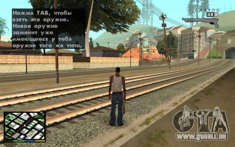 GTA V Interface pour GTA San Andreas troisième écran