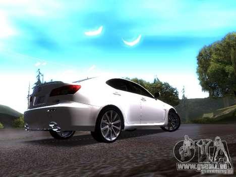 Lexus IS F pour GTA San Andreas vue de droite