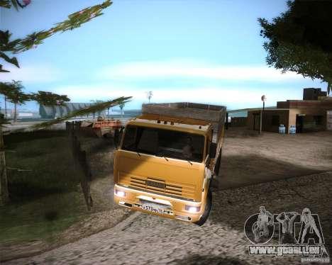 KAMAZ 65117 für GTA San Andreas zurück linke Ansicht