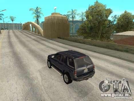 Chevrolet TrailBlazer 2003 pour GTA San Andreas sur la vue arrière gauche