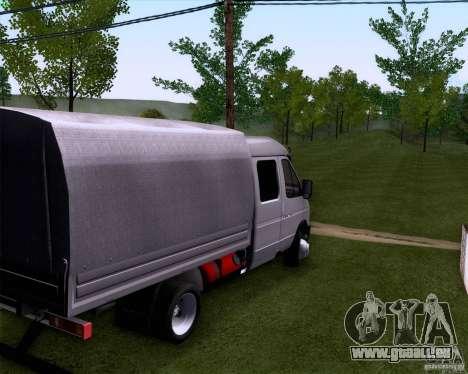Gazelle 33023 pour GTA San Andreas sur la vue arrière gauche