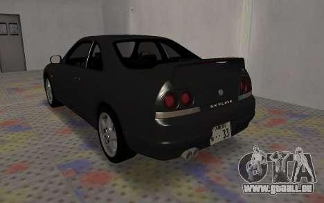 Nissan Skyline GTS25T (R33) pour GTA San Andreas sur la vue arrière gauche