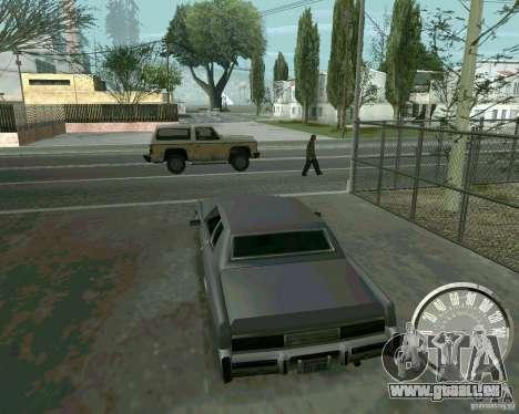Compteur de vitesse Mustang classique pour GTA San Andreas deuxième écran