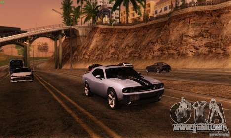 Dodge Challenger SRT-8 für GTA San Andreas Rückansicht