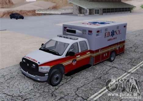 Dodge Ram Ambulance pour GTA San Andreas vue arrière