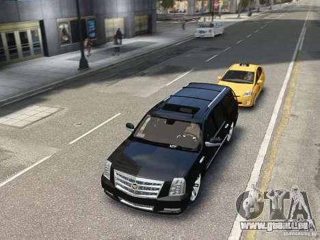 Cadillac Escalade ESV 2012 DUB für GTA 4 Rückansicht