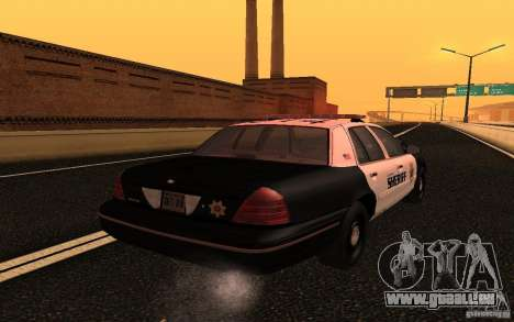 Ford Crown Victoria Police pour GTA San Andreas vue arrière