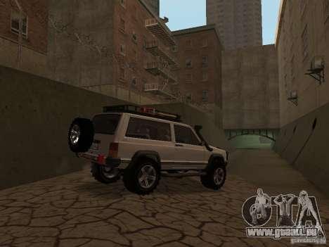 Jeep Cherokee Sport pour GTA San Andreas vue arrière
