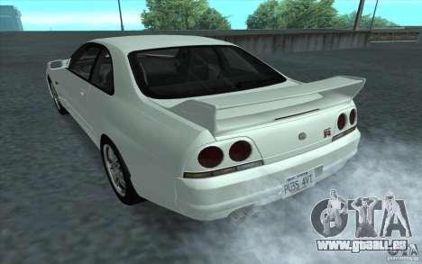 Nissan Skyline GT-R R-33 pour GTA San Andreas laissé vue