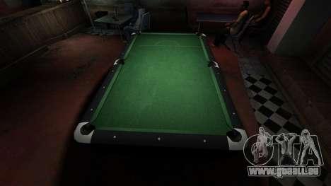 Table de billard supérieure dans la barre de 8 b pour GTA 4