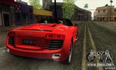 Audi R8 Spyder Tunable pour GTA San Andreas laissé vue