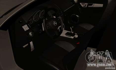 Mercedes-Benz C63 Dub für GTA San Andreas Rückansicht